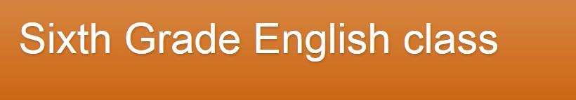 Blog English Sexto